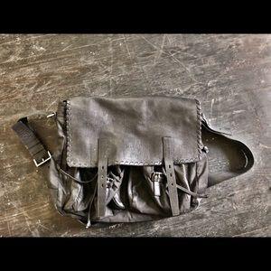 Vintage Prada leather messenger bag